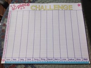 Donna Lewis 40 Piece Challenge Chart