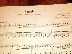 Finale from Carnival of the Animals by Camilee Saint-Saens. Arr by Hans Gunter Heumann
