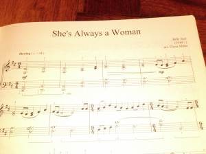 She's Always a Woman by Billy Joel. Arr by Elissa Milne