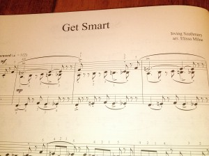 Get Smart by Irving Szathmary. Arr by Elissa Milne