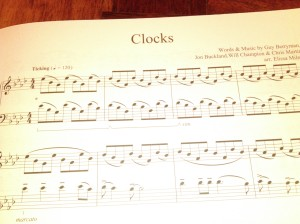 Clocks (Coldplay) by Guy Berryman, Jon Buckland, Will Champion & Chris Martin. Arr by Elissa Milne