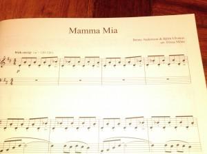 Mamma Mia by Benny Andersson & Bjorn Ulvaeus. Arr by Elissa Milne