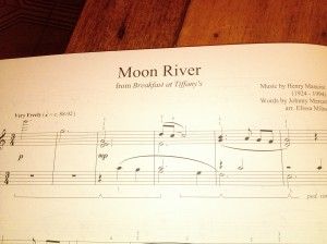 Moon River from Breakfast at Tiffany's by Henry Mancini. Arr Elissa Milne