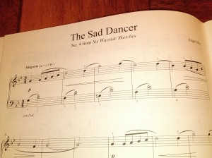 The Sad Dancer No. 4 from Six Wayside Sketches by Edgar Moy